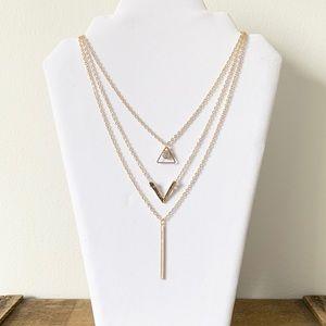 Beautiful Layered Gold Necklace